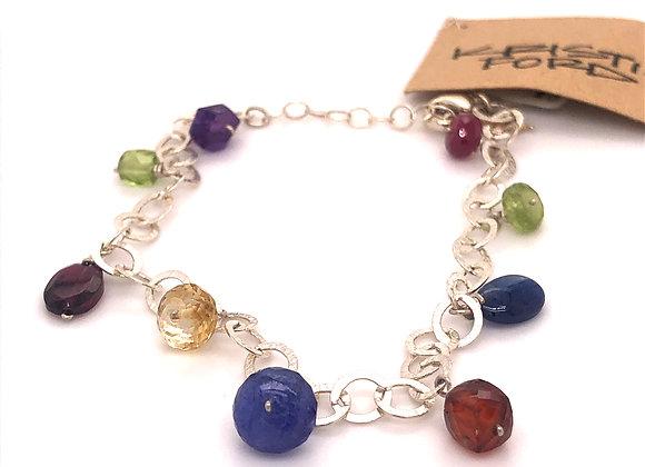 Multi Colored Sterling Silver Bracelet