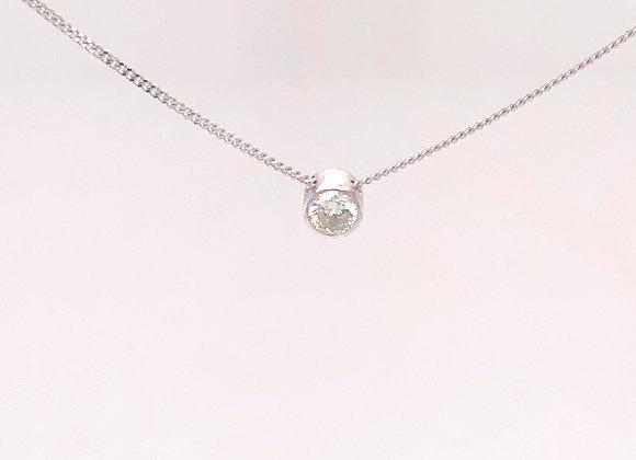 Bezel Set Diamond Solitaire Necklace