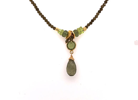 Moss Aqua Peridot Necklace