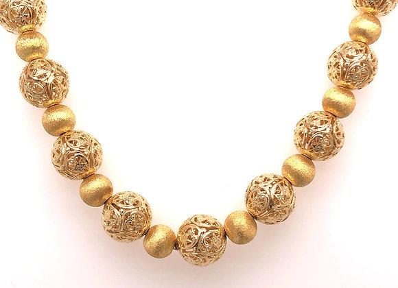 Pierced Sphere Necklace
