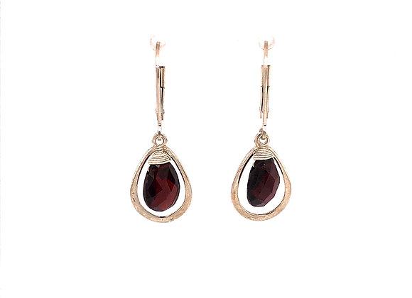 Briolette Garnet Earrings