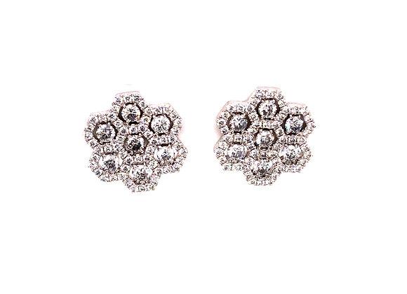 Honeycomb Diamond Earrings