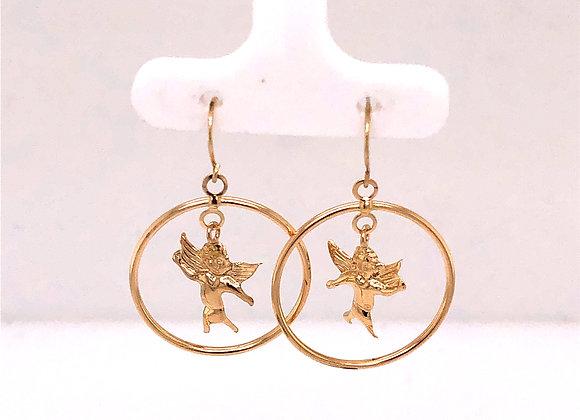 Yellow Gold Angel Earrings