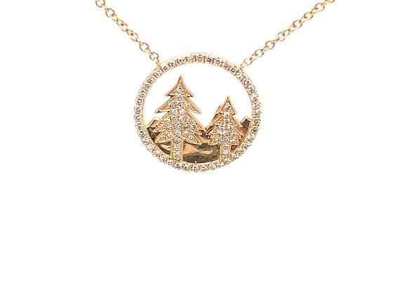 Outdoor Themed Diamond Pendant/Necklace