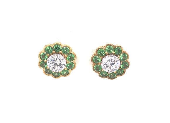 Tsavorite Garnet Earring Jackets