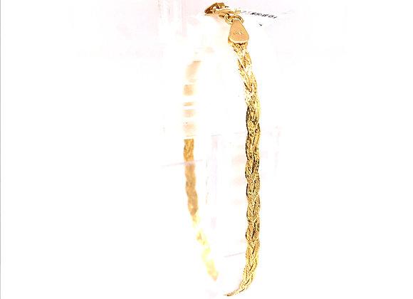 Yellow Gold Triple Weave Bracelet
