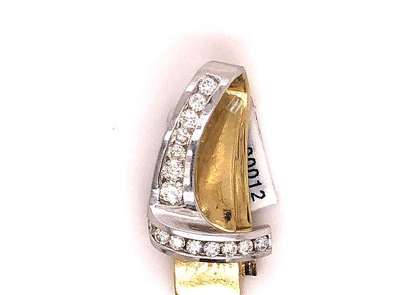 2-Tone Diamond Pendant Slide