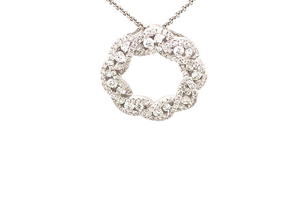 Twisted Diamond Circle Pendant