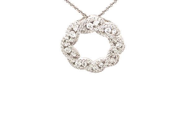 Twisted Diamond Circle Pendant