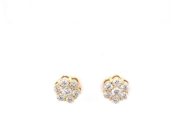 Diamond Cluster Stud Earring