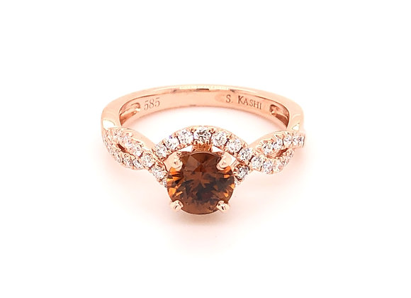 Cinnamon Zircon Ring
