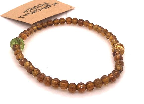 Brown Garnet and Peridot Bracelet