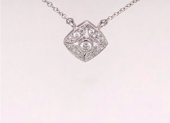 Vintage Inspired Diamond Pendant/Necklace