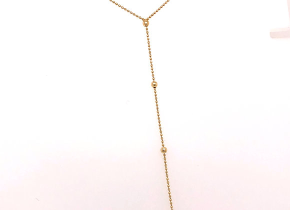 Yellow Gold Drop Necklace