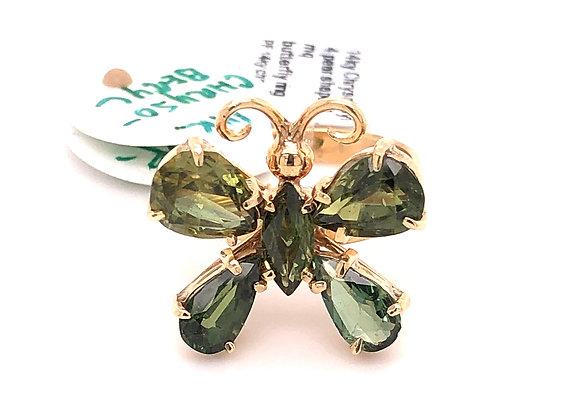 Chrysoberyl Butterfly Ring