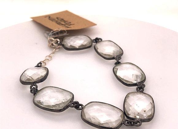 Bezel Set Quartz Bracelet