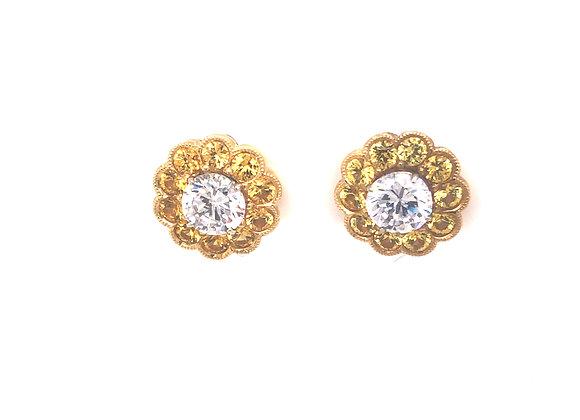 Yellow Sapphire Earring Jackets