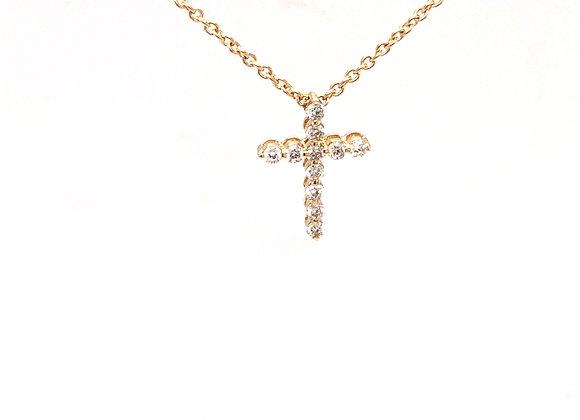 Yellow Gold Diamond Cross