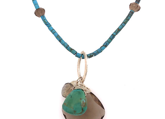 Turquoise & Howlite Necklace