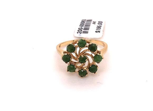 Green Spiral Ring