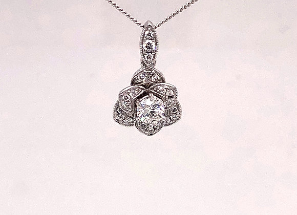 Floral Diamond Pendant/Necklace