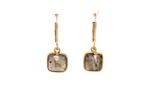 Cushion Labradorite Earrings