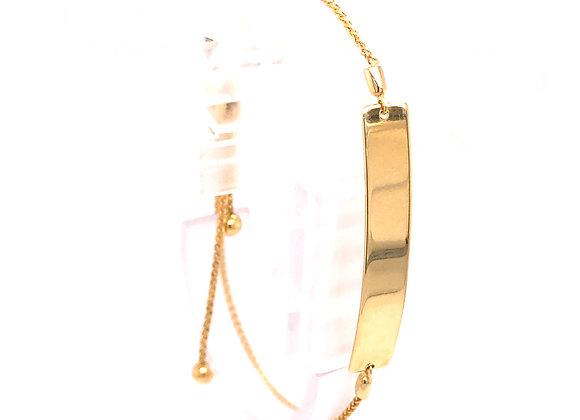Yellow Gold Adjustable Bar Bracelet