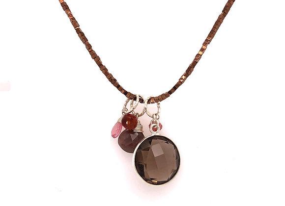 Copper Coated Hematite Necklace