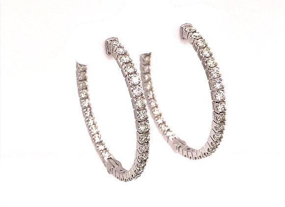 Inside/Out Diamond Hoops