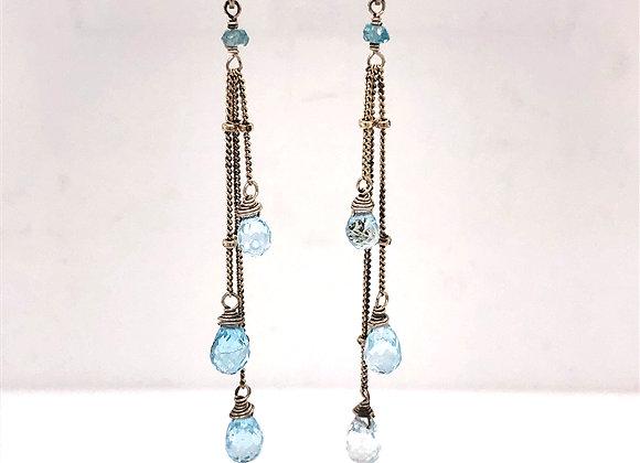 Blue Topaz Teardrop Earrings