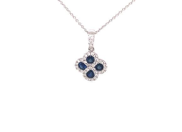 Sapphire and Diamond Pendant