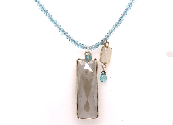 Moonstone Apatite Necklace
