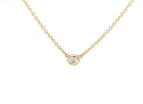 Diamond Bezel Pendant/Necklace