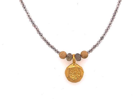 Labradorite Turkish Coin Necklace