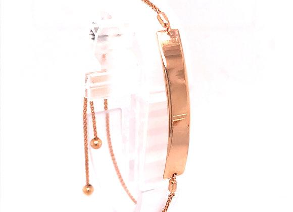 Rose Gold Adjustable Bar Bracelet