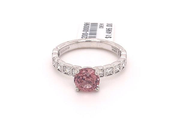 Blush Zircon and Diamond Ring