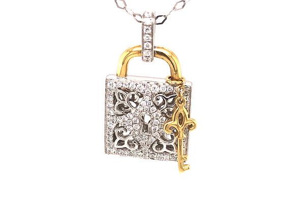 Diamond Lock & Key Pendant