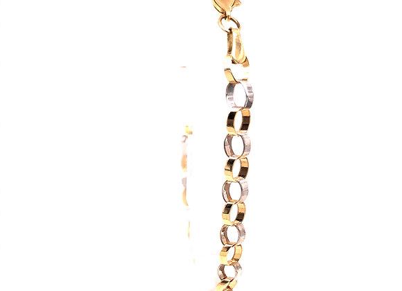 2-Tone Angled Oval Link Bracelet