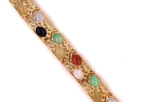 Multi Color Cabochon Bracelet