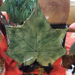 Confederate Rose Leaf Platter