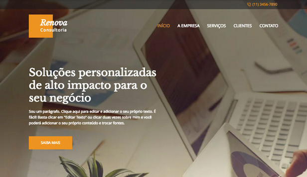 Ver todos os templates website templates – Consultoria
