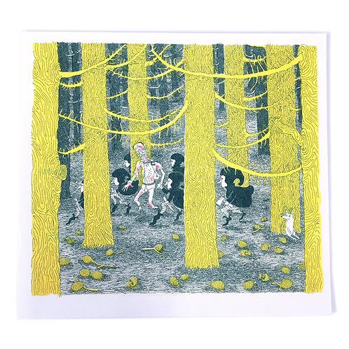'Murdoch' print by Mary Leunig