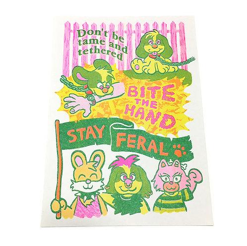 'Stay Feral' print by Marlo Mogensen