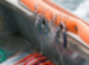 The flashers and fish hooks used on the bella dawn to capture the salmon used in Sitka Wild Seafoos jarred samon