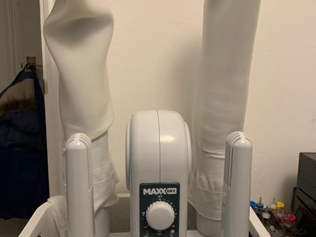 Drying prosthetic socks and sleeves...