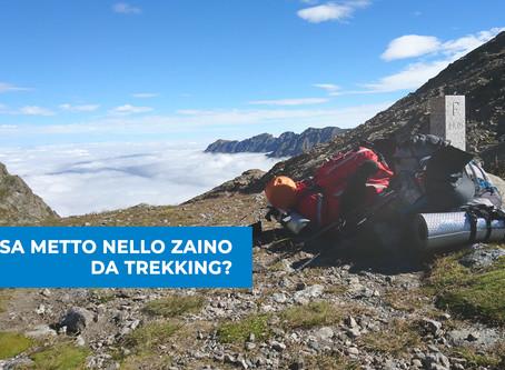 COSA METTO NELLO ZAINO DA TREKKING?