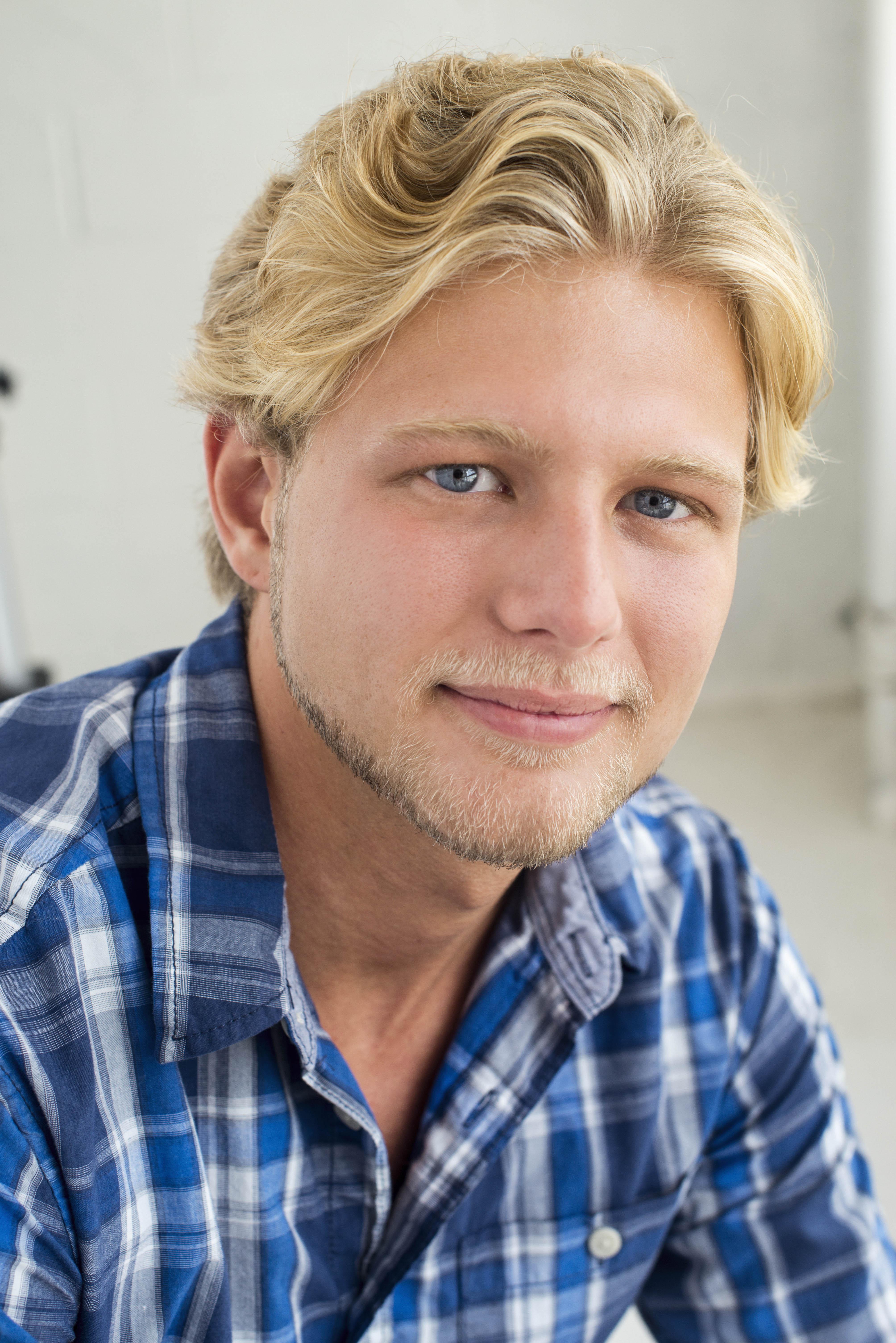 BlondeBlueChekShirt