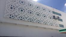 Fachada para Edificio de acero al carbón y fibra de vidrio.