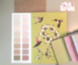 Harmonie couleur, tissus Harlequin, Tissus Scion, bois, peinture