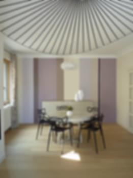 création d'un salon séjour, suspension vertigo, chaise masters, suspension caboche, moderne chic,